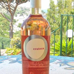 bottiglia crateca rosato, vini ischia