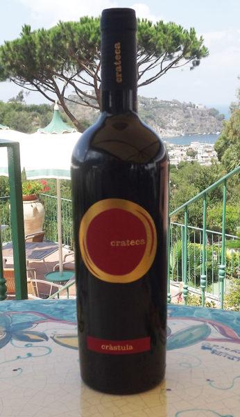 bottiglia crastula rosso, vini ischia